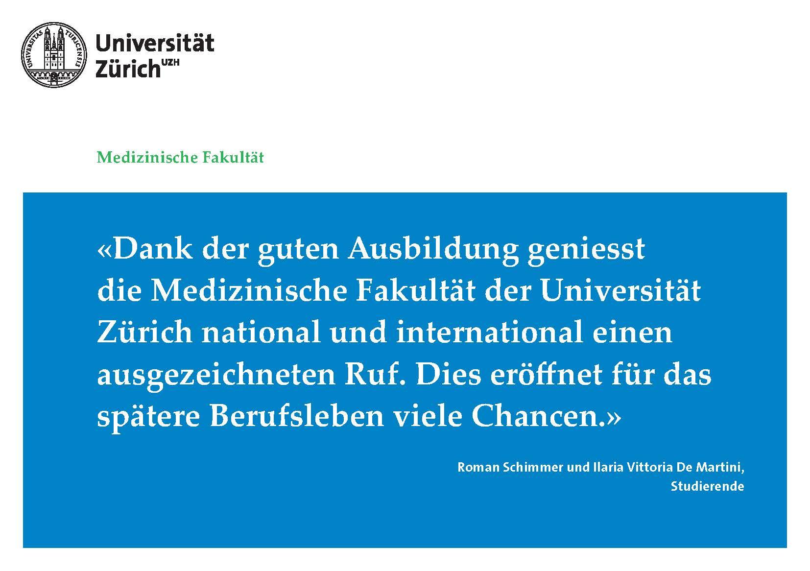 dissertation uzh medizinische fakultät